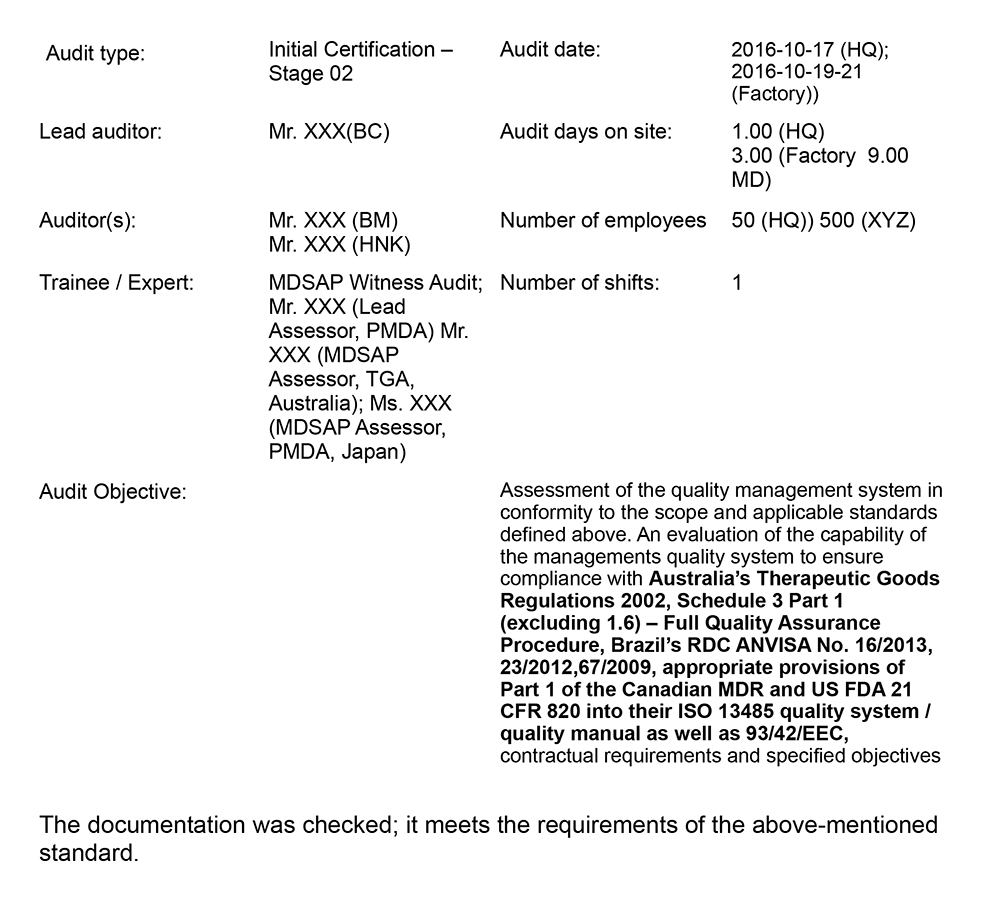 The Medical Device Single Audit Program From